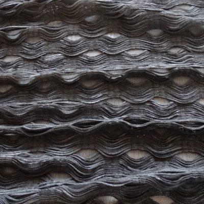 Krajka černá s extravagantním s 3D vzorem a9cca4832ef